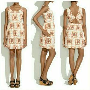 Madewell silk dress sleeveless sundress floral